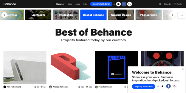 This site is another inspirational design website for all the UI designers out there