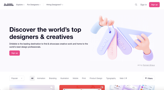 This is a community of creative web designers that grow their expertise and skills together through their website