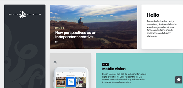 This creative web design agency offers a minimalistic, clean, and functional experience