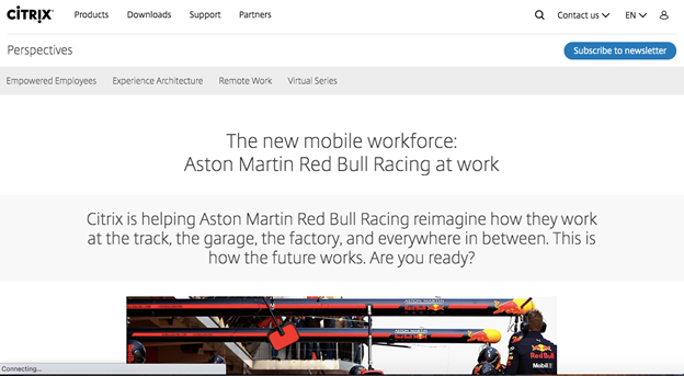 The website is all about clever and eye-catchy animations to explain complicated automotive technology