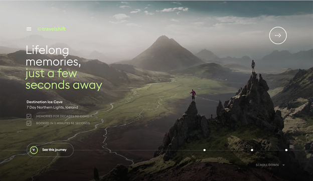 No website does better than Travelshift when it comes to reinventing navigation while maintaining exceptional usability